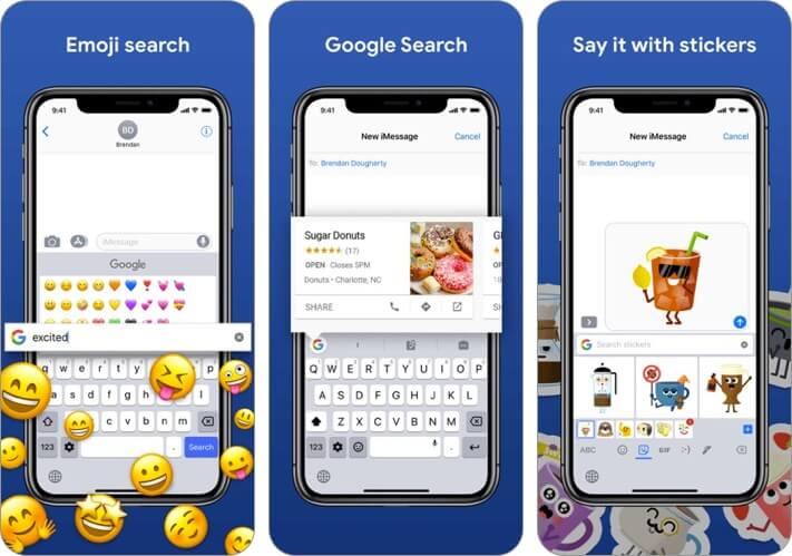 Скриншот приложения gboard для iphone и ipad клавиатуры
