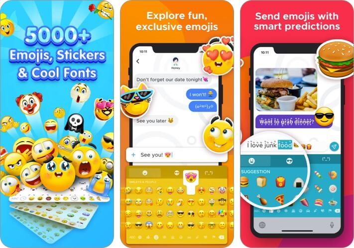 новые смайлики и шрифты - скриншот приложения для клавиатуры Rainbowkey для iphone и ipad