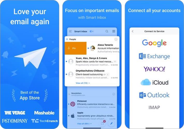 Spark Mail iPhone и iPad скриншот приложения электронной почты