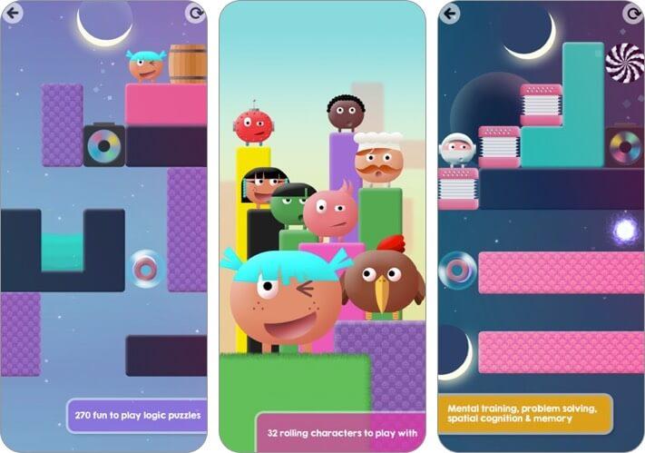 thinkrolls 2 iphone и ipad скриншот детской игры