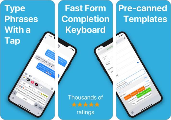 wordboard - фраза клавиатура iphone и ipad скриншот приложения
