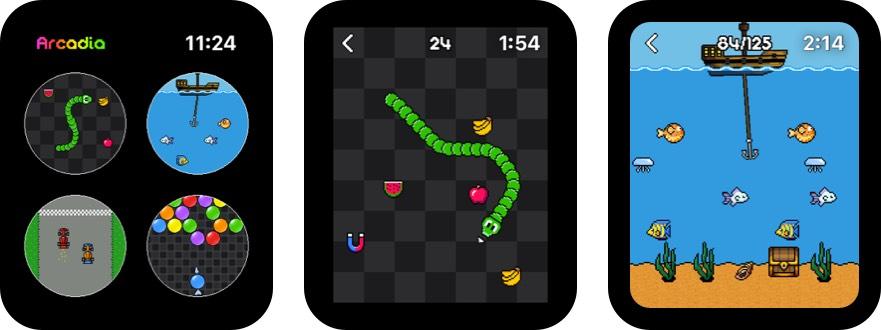 аркадия Apple Watch скриншот игры