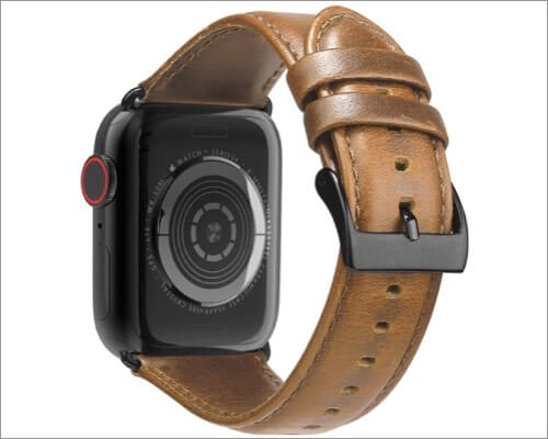 кожаные ремешки brg для apple watch series 5