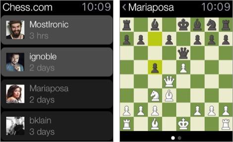 шахматы - играй и учись Apple Watch скриншот игры