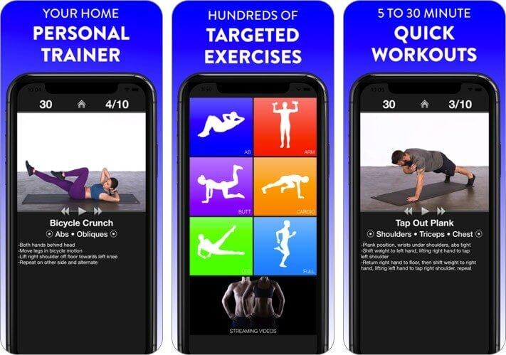 ежедневные тренировки фитнес-тренер iPhone и iPad скриншот приложения для растяжки