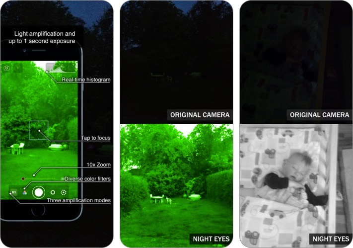 night eyes - ночная камера iphone и ipad скриншот приложения