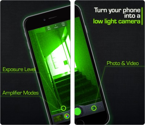 Скриншот приложения камеры ночного видения для iphone и ipad
