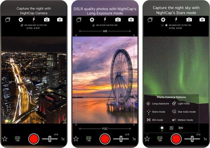 nightcap camera iphone и ipad скриншот приложения