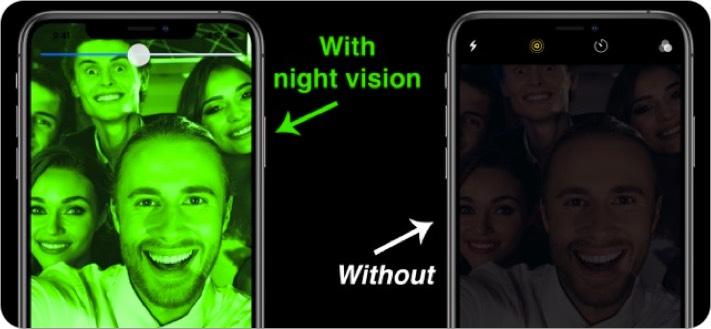 nightvision night camera iphone и ipad скриншот приложения