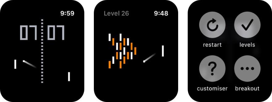 понг для Apple Watch скриншот игры