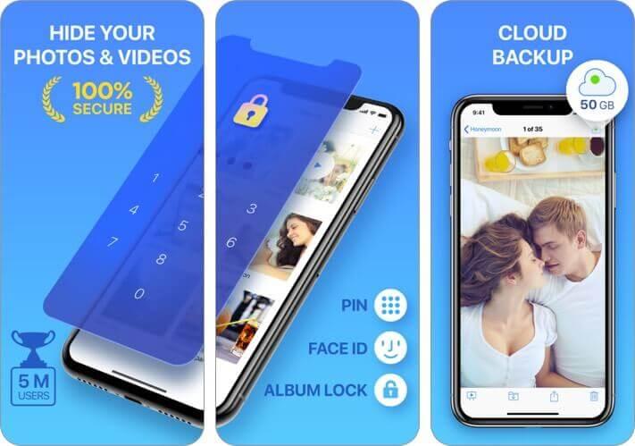секретный фотоальбом: скрыть скриншот приложения iphone хранилища