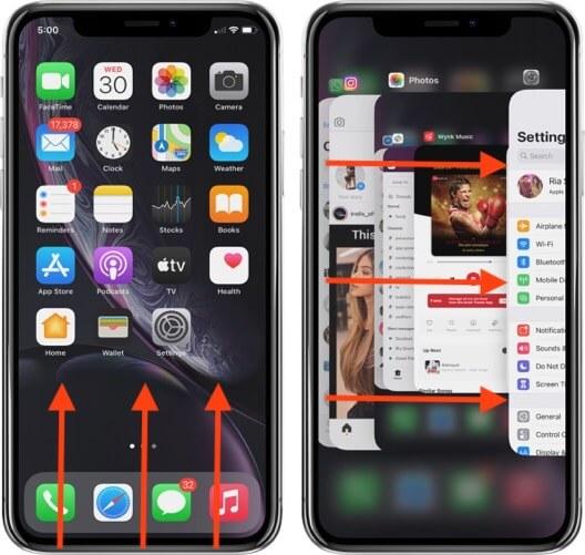 переключаться между приложениями на iphone с идентификатором лица