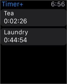 таймер Apple Watch будильник скриншот приложения