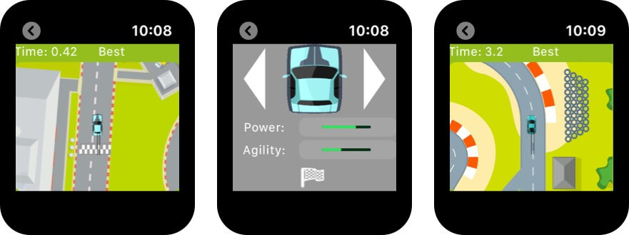 сенсорный круглый скриншот игры Apple Watch