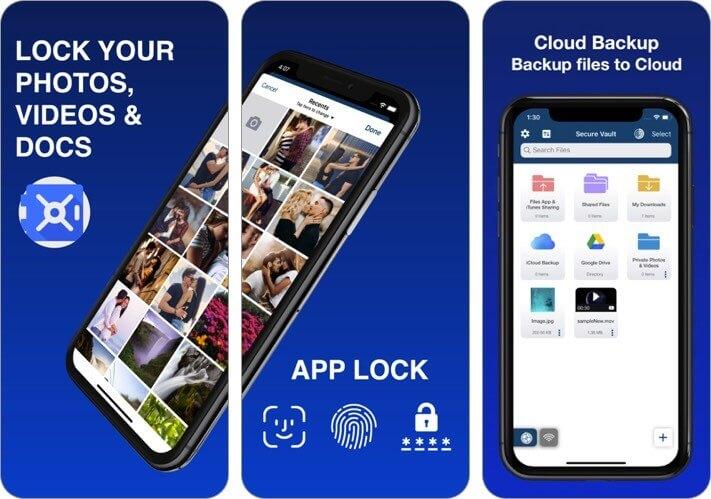 vault - браузер и файловый менеджер скриншот приложения для хранения фотографий iphone