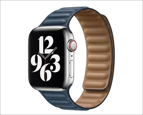 Ремешок Apple Leather Link для Apple Watch Series 6, 5, 3 и SE