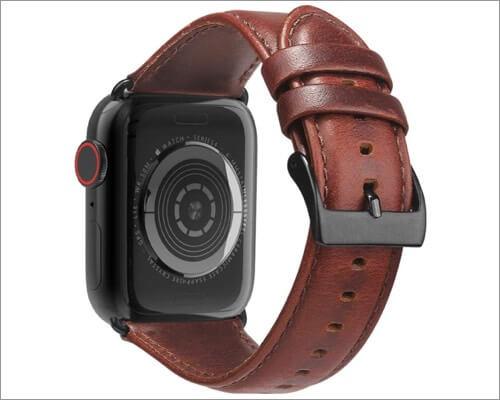 Ремешок BRG из натуральной кожи для Apple Watch Series 6, 5, 3 и SE