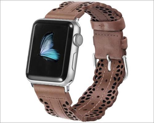 Кружевной кожаный ремешок Secbolt Chic для Apple Watch Series 6, 5, 3 и SE
