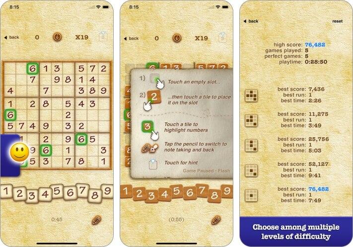 Sudoku von PeopleFun CG iPhone und iPad Spiel Screenshot