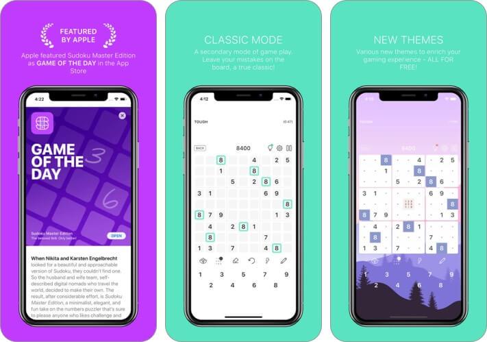 Screenshot des Sudoku Master Edition iPhone- und iPad-Spiels