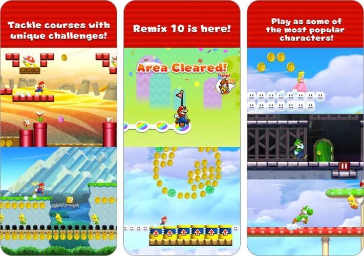 Скриншот игры Super Mario Run для iPhone и iPad