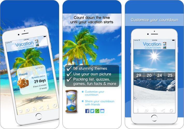 Скриншот приложения Vacation Countdown для iPhone и iPad