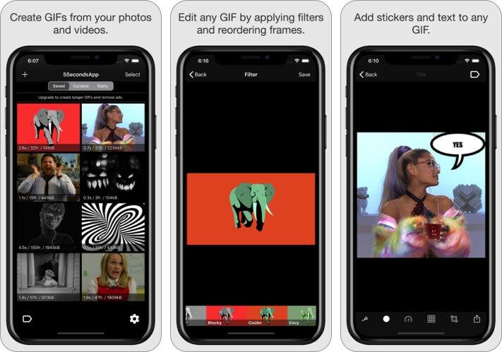 Приложение 5Seconds - Анимированные GIF-файлы Скриншот приложения для iPhone и iPad