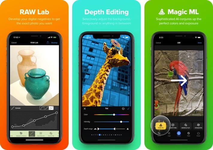 Camera + 2 RAW Photo Editing Скриншот приложения для iPhone и iPad
