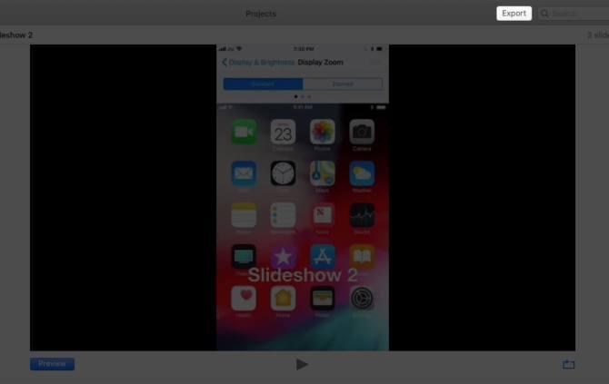 Нажмите «Экспорт» в приложении «Фото» на Mac.