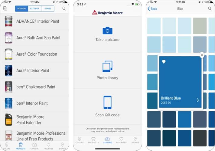 Снимок экрана приложения Color Capture для iPhone и iPad.