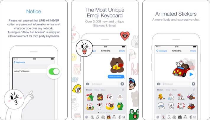 Emoji Keyboard by Line Приложение для iPhone и iPad Скриншот