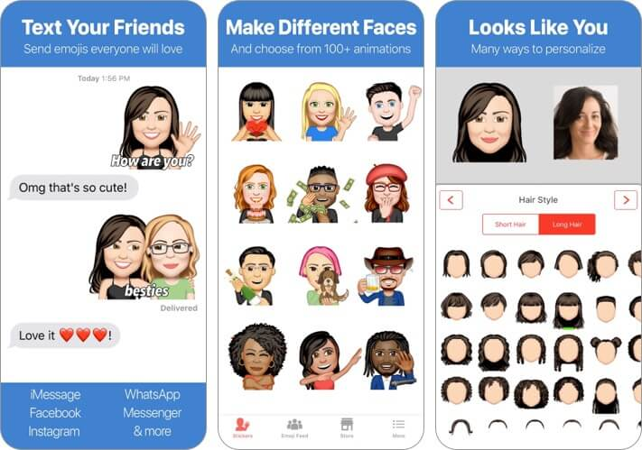 Emoji Me Animated Faces Скриншот приложения для iPhone и iPad