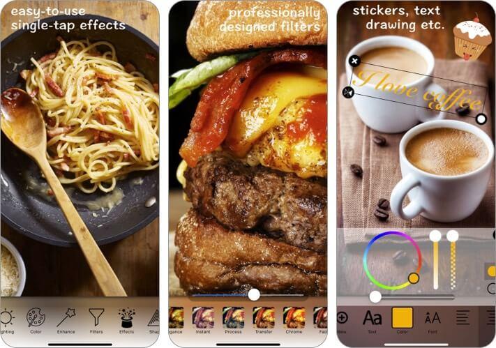 Food Photo Editor Скриншот приложения для фотографий iPhone и iPad