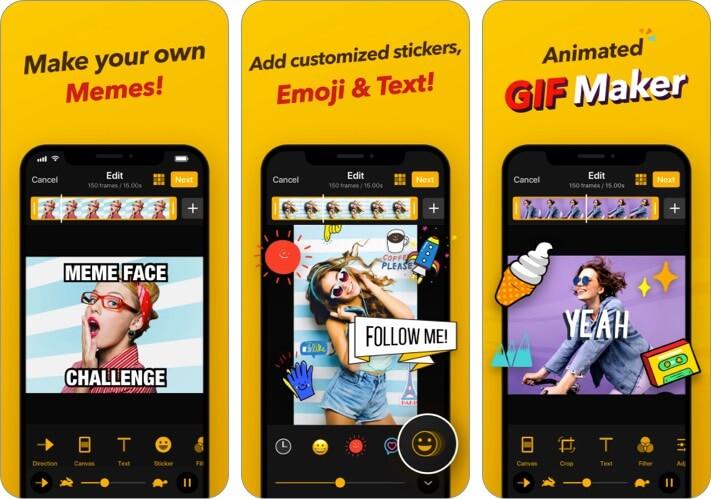 Скриншот приложения GIF Maker для iPhone и iPad