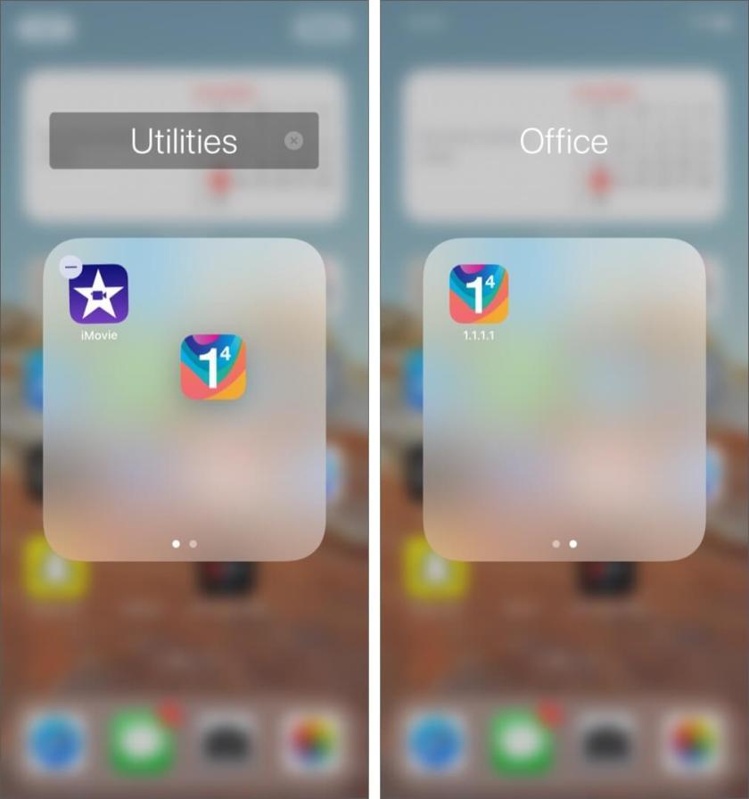 Скрыть приложения в папках на iPhone