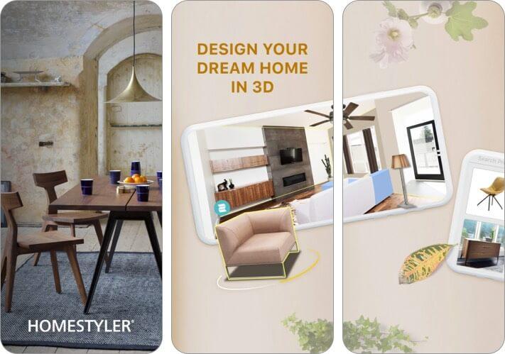 Скриншот приложения Homestyler Interior Design для iPhone и iPad