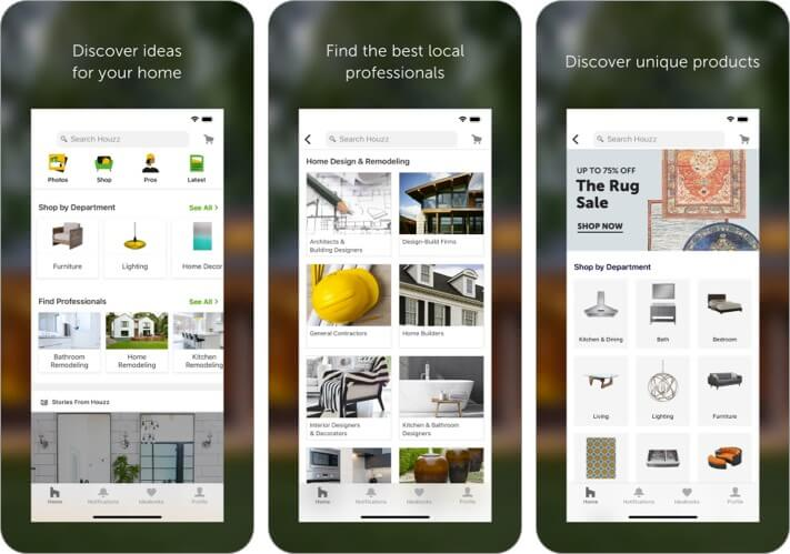 Скриншот приложения Houzz Home Design & Remodel для iPhone и iPad