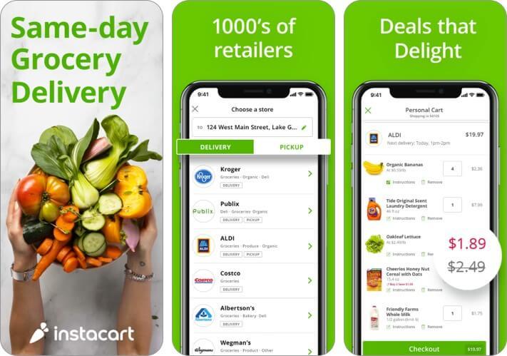 Скриншот приложения Instacart для iPhone и iPad