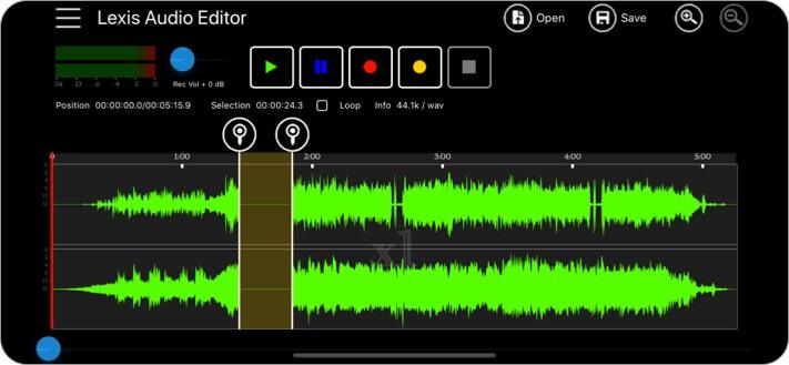 Скриншот приложения Lexis Audio Editor для iPhone и iPad