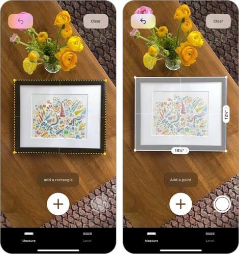 Измерение с помощью Apple iPhone и iPad Скриншот приложения для дизайна интерьера