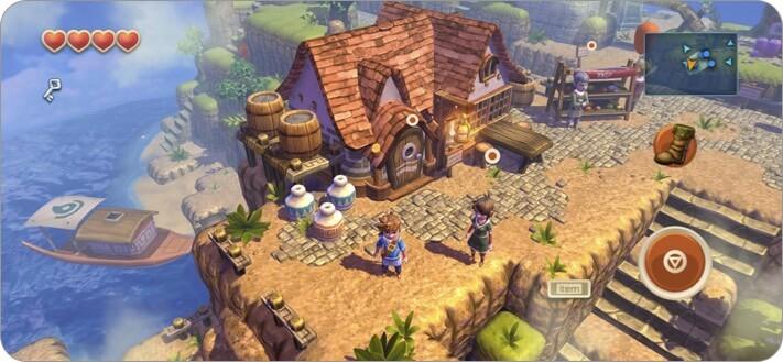 Скриншот ролевой игры Oceanhorn для iPhone и iPad