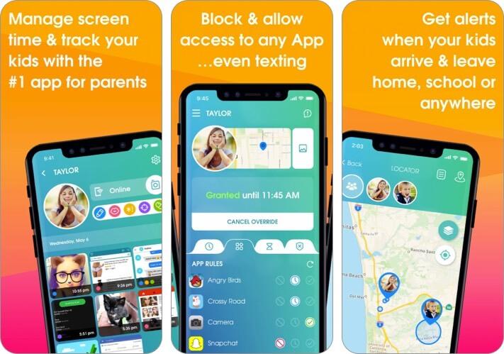 Снимок экрана приложения для родительского контроля OurPact для iPhone и iPad