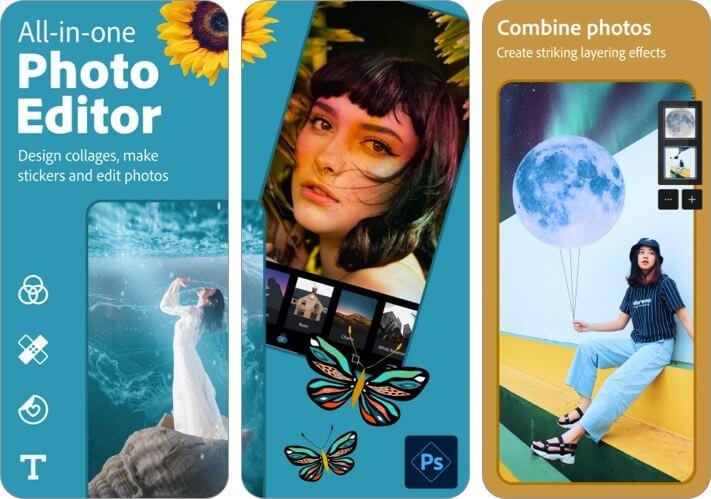 Photoshop Express Photo Editor Скриншот приложения для iPhone и iPad