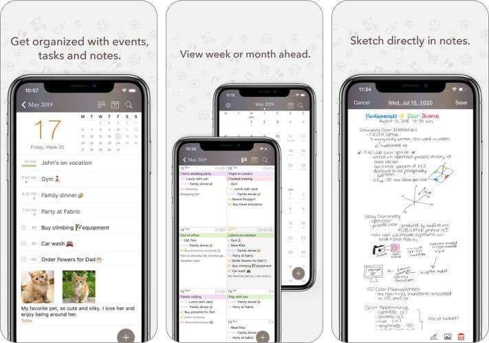 Скриншот приложения календаря Planner Pro для iPhone и iPad