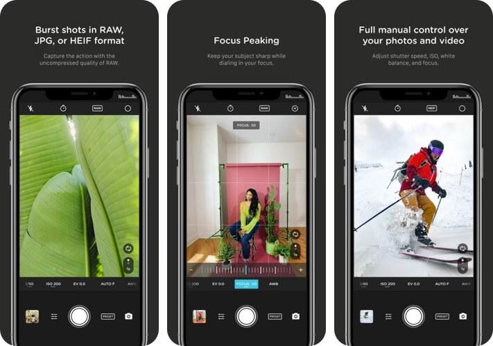 Pro Camera от Moment RAW Photo Editing Скриншот приложения для iPhone и iPad