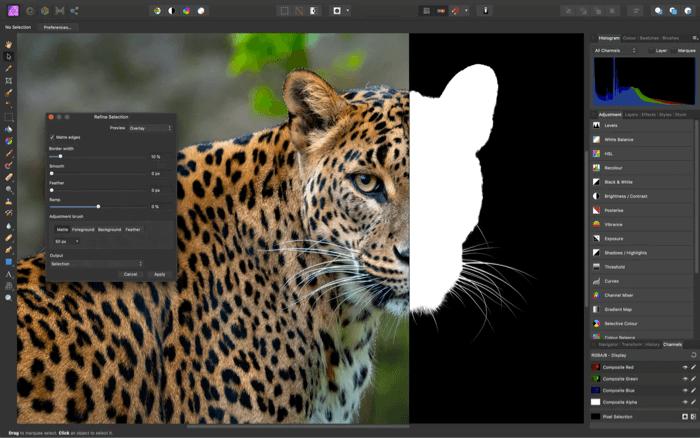 Приложение Affinity Photo Editor для Mac Скриншот