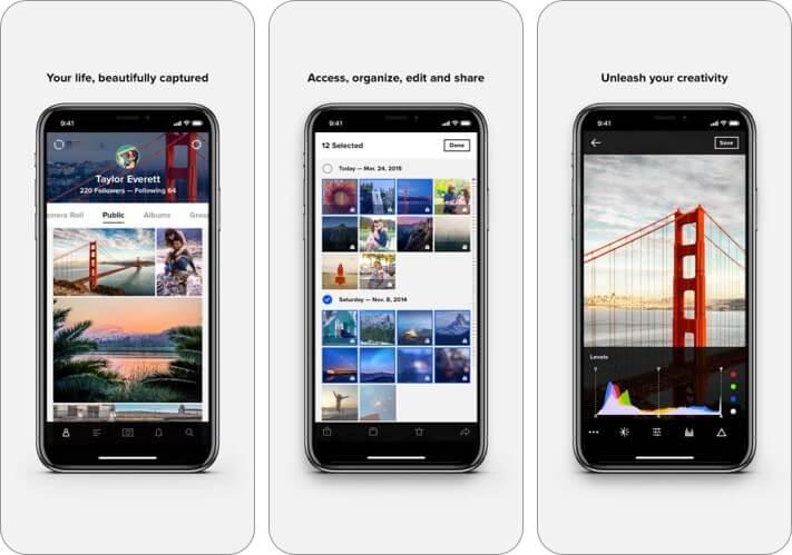 Скриншот приложения Flickr для iPhone и iPad