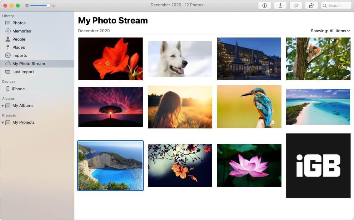 Как мой фотопоток работает с фотографиями iCloud