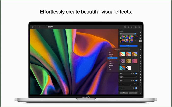 Приложение для редактирования фотографий Pixelmator Pro для Mac Скриншот