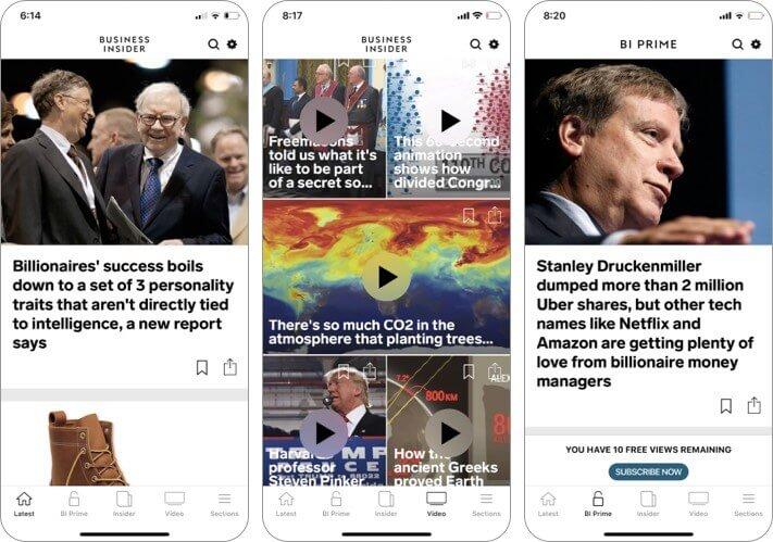Business Insider Скриншот приложения для iPhone и iPad
